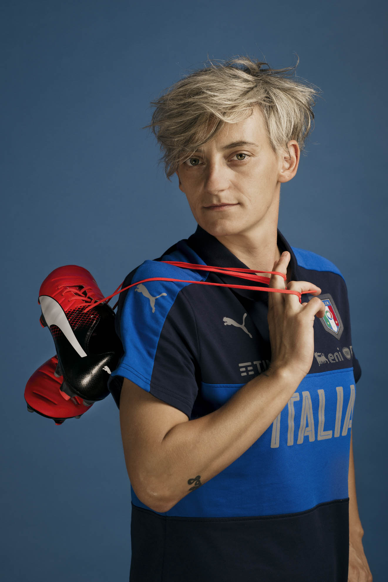Coverciano, 2017. Melania Gabbiadini, capitano della nazionale femminile di calcio italiana. Coverciano, 2017. Melania Gabbiadini, captain of  Italy women's national team.