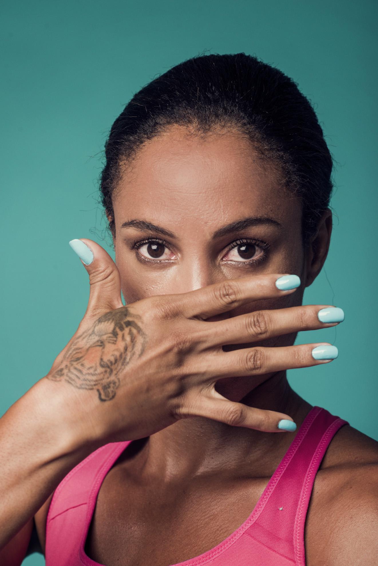 Roma, 2017. La velocista italiana di origine cubana Libania Grenot. Rome, 2017. Cuban-born Italian female athlete Libana Grenot.