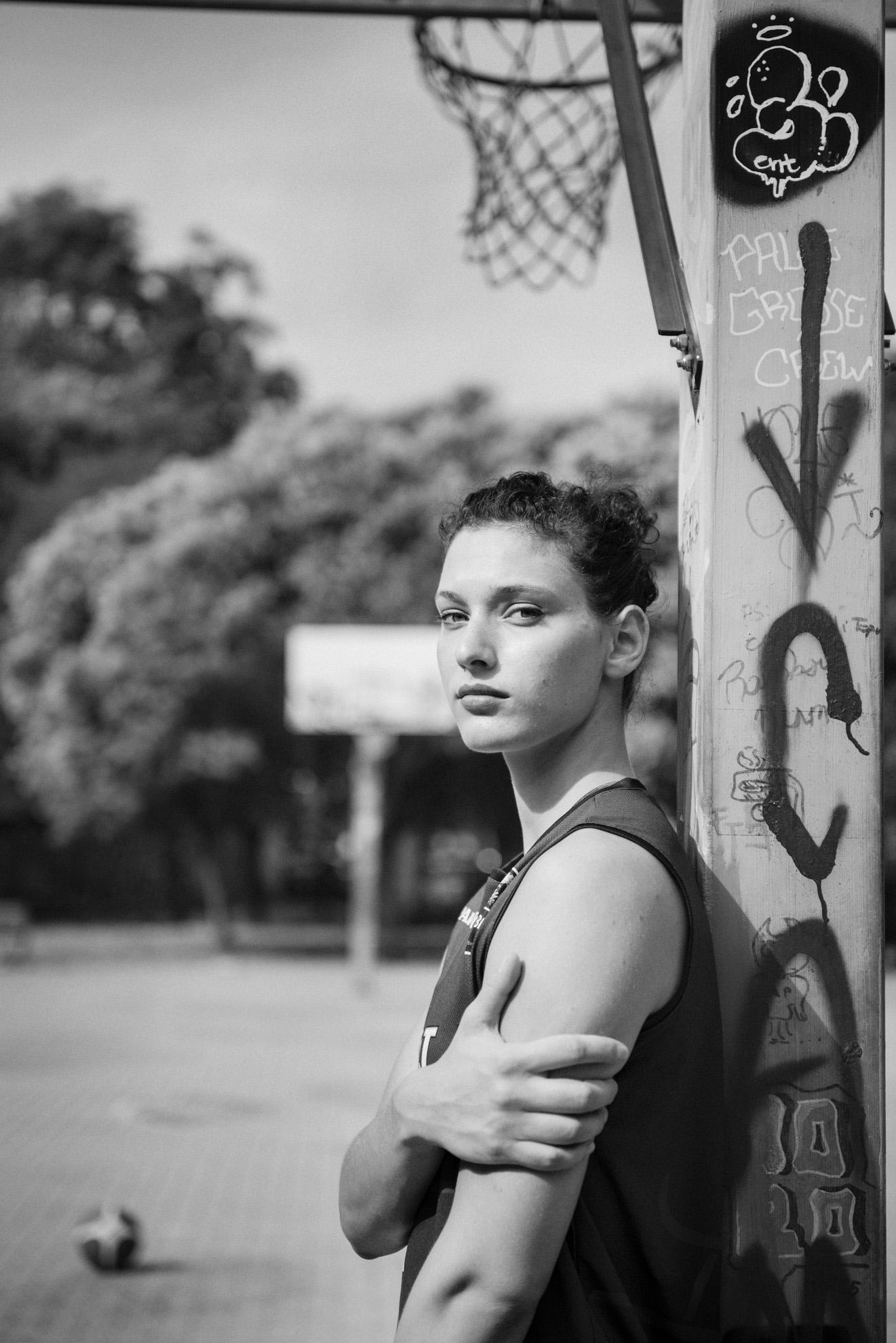 Roma, 2017. La cestista italiana Cecilia Zandalasini. Rome, 2017. Cecilia Zandalasini, Italian basketball player.